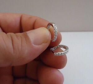 925-STERLING-SILVER-HUGGIE-HOOP-EARRINGS-W-75-CT-LAB-DIAMONDS-14MM-DIAMETER