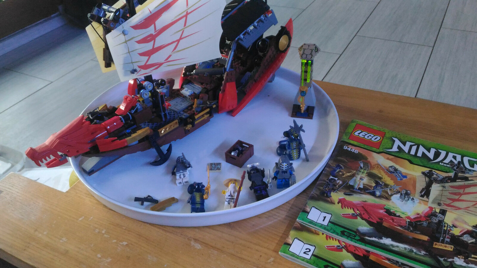 LEGO Ninjago Playthème - 9446 - Jeu de Construction - Le QG des Ninjas de LEGO