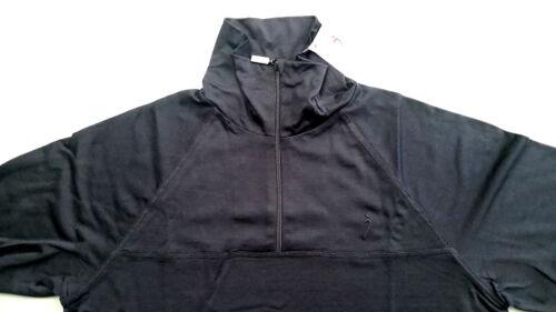 65/%OFF RRP-NEW! Silkbody Men/'s Black LS Zip Neck 72/%silk 15/%cotton 13/%merino