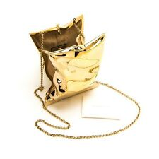 Anya Hindmarch Crisp Packet II Clutch in Gold