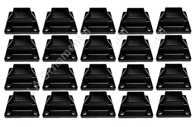 "Floor Flange 2""x2"" Square Aluminum Fence Posts Heavy Duty Deck Mount Black 20pcs   eBay"