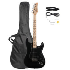 "40"" Beginners GST Stylish Electric Guitar Kit with Black Pickguard Black"