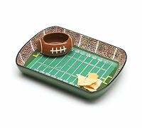 Football Stadium Chip And Dip Sports Serving Set Free Shipping