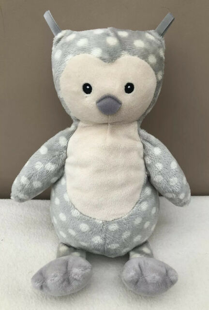 Jellycat Ollie Owl Soother Baby Comforter Grey Spotty Soft Baby Toy