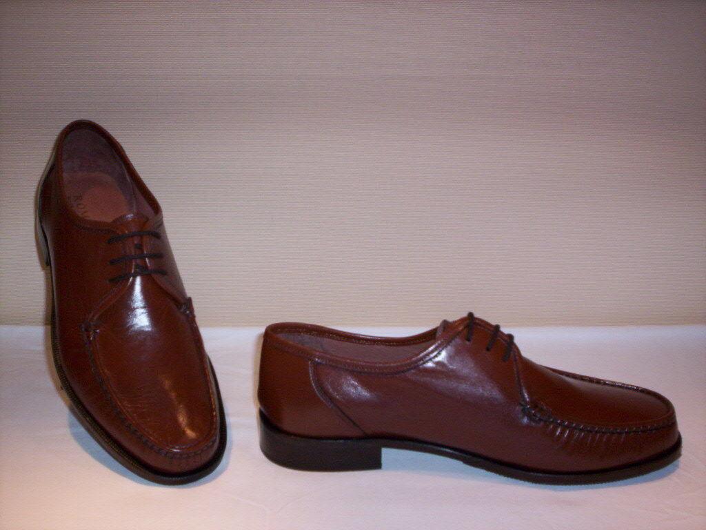 Roma zapatos clásicos marrón mocasines elegantes hombre cuero marrón clásicos zapatos 44 45 47 44e0a3