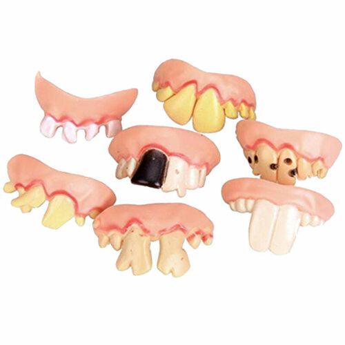 10 pcs Falsche Zähne weiß falsches Gebiss lustig Scherzgebiss-Faschingszähn H4N2