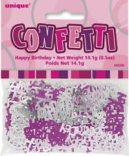 Confetti Happy Birthday Glitz Pink Foil M55200 Party Decoration