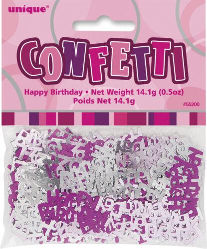 ballons /& décorations bannières 21 ans fête heureux 21e anniversaire rose paillettes