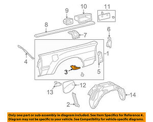 toyota oem tacoma rear fender panel bed side panel bracket right Fender Stratocaster Schematic Diagram image is loading toyota oem tacoma rear fender panel bed side