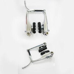 Etc-Mountain-Bike-Hybrid-Bicicletta-130mm-Linear-V-Freni-Cuscinetti-Argento