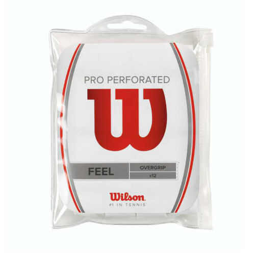 12 PACK WILSON PRO OVERGRIP PERFORATED OVER GRIP FOR TENNIS, PADEL