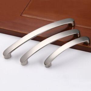 Brushed-Nickel-Kitchen-Door-Cabinet-Drawer-Handle-Pulls-96MM-128MM-160MM