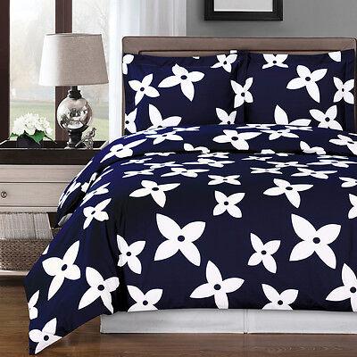 Desiree Duvet Cover Contemporary Print Set 100% Cotton 300 Thread Count