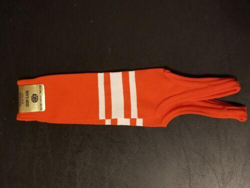 Deadstock 1980/'s DeLong Baseball Stirrup Socks Kids Hose Baseball Orange Striped