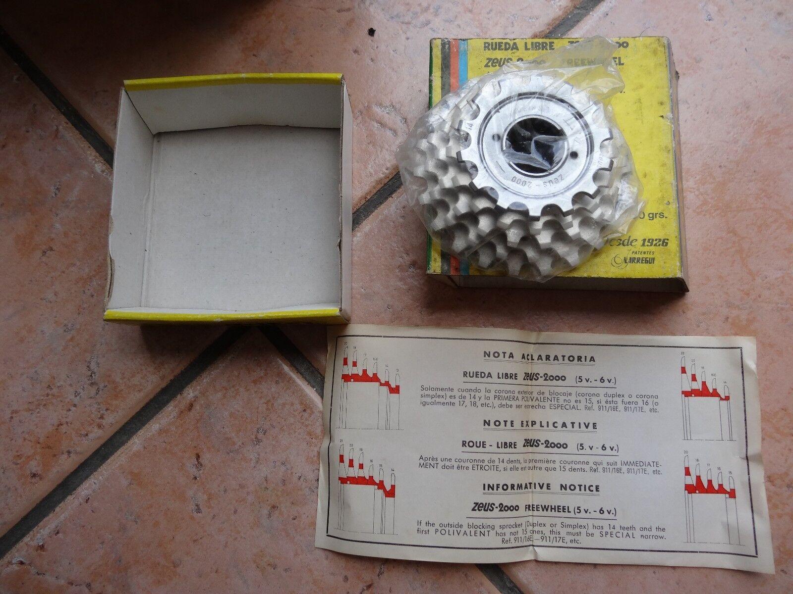 NIB  Zeus2000  super earlumin II  freewheel,cassette 5 speed 14 22