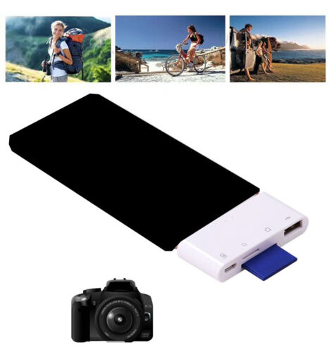 SD TF Card Reader For iPad iPhone 7 8 Plus 5 5S 6 6S USB OTG Adapter Camera Kit