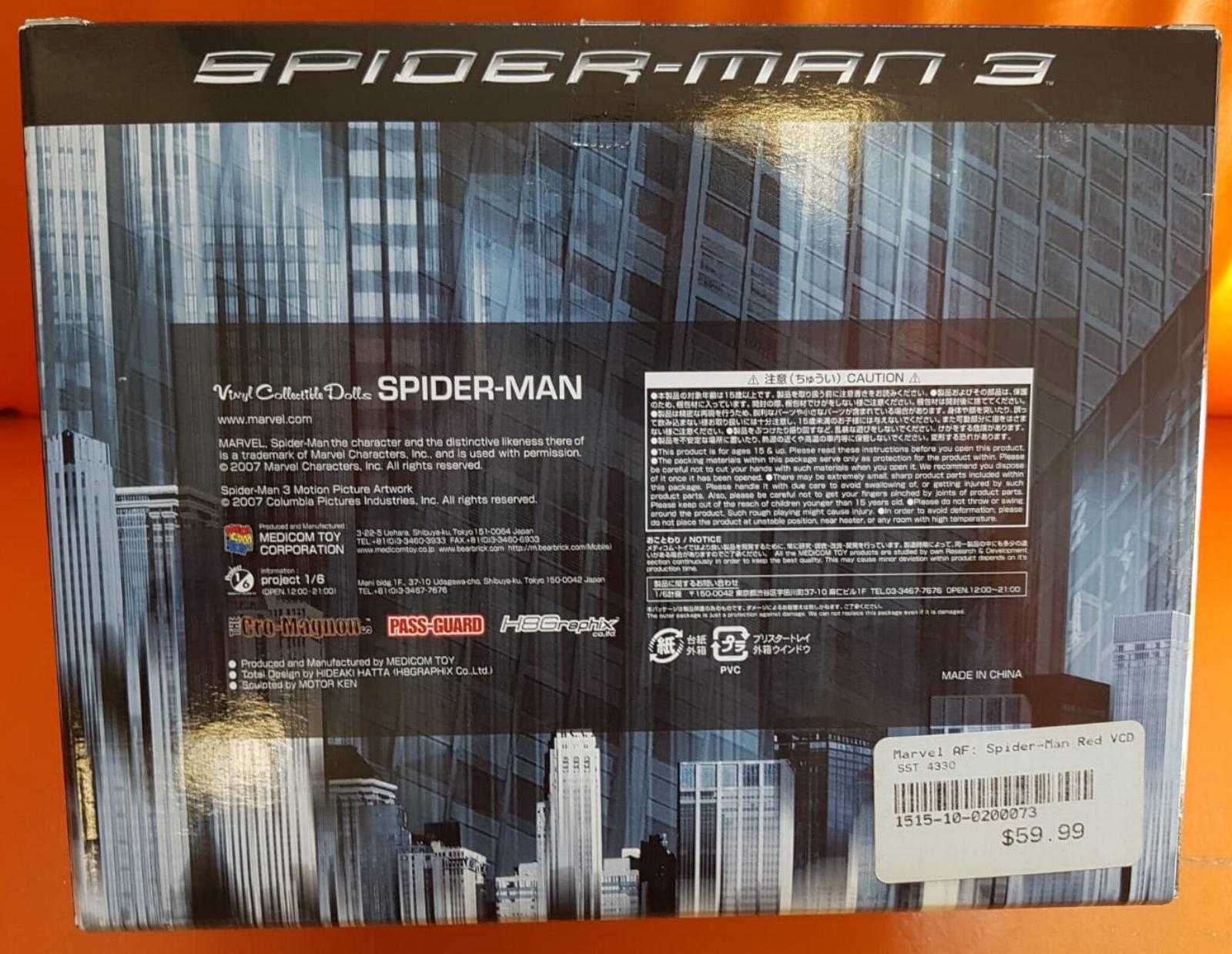 SPIDER MAN 3 rot VINYL COLLECTIBLE FIGURE MEDICOM MEDICOM MEDICOM TOY MARVEL COMICS DOLL NUOVO dabf67