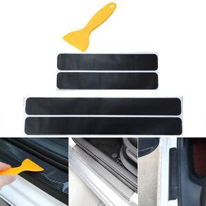 4x Einstiegsleisten Tür Leisten Verkleidung Design Folie + Rakel in Schwarz Matt