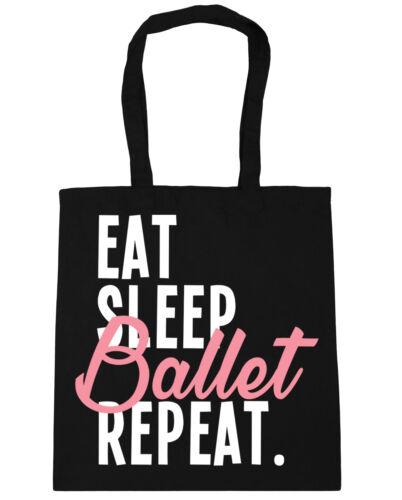 10 litros Comer Dormir Ballet repetir Bolso De Compras Gimnasio Bolsa De Playa 42 cm x38cm