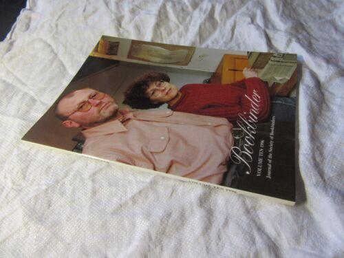 1996 BOOKBINDER Magazine Journal of Society of Bookbinders Vol 10 BOOKBINDING