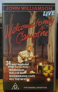 NEW-UNOPENED-VIDEO-JOHN-WILLIAMSON-034-Welcome-to-my-Campfire-034-1989-LIVE-VHS-PAL