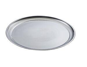 Servierplatte-Edelstahlplatte-Tablett-ca-45cm-Platte-Obstplatte-Wurstplatte