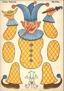Paper Doll Cut Out Series Circus Clown Cirkus Reibusch Postcard gfz