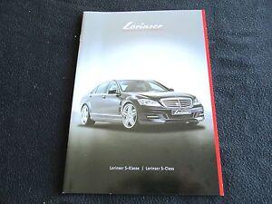 2011 Mercedes LORINSER S-class Catalog W221 S550 S600 Spoilesr & Wheels Brochure   eBay