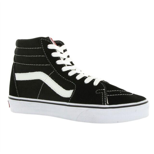 2e64adbae5 VANS Sk8 Hi Classic Vn000d5ib8c Black White Suede Canvas Shoes ...