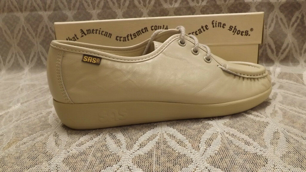 SAS  Siesta  BONE Lace-Up Loafer Leather chaussures NIB sz 10 M USA made