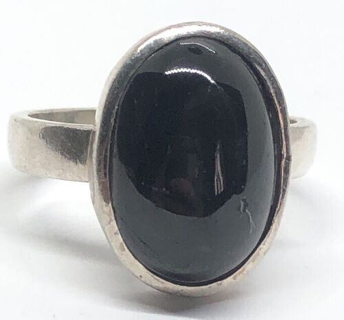 Details about  /Vintage Sterling Silver Ring 925 Size 9 Cats Eye Gray Stone