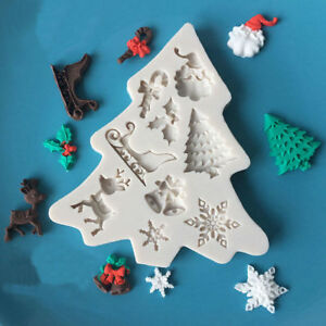 Christmas-Silicone-Fondant-Mold-Cake-Chocolate-Decorating-Baking-Mould-Tools
