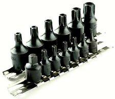 15 Pc Air Impact Tamper Proof Star Bit Socket Set 14 Amp 38 Dr Torx Sockets