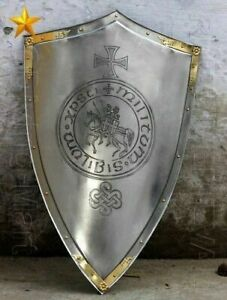 Medieval Knight Shield All Metal Handcrafted Medieval Armor Shield SCA Shield
