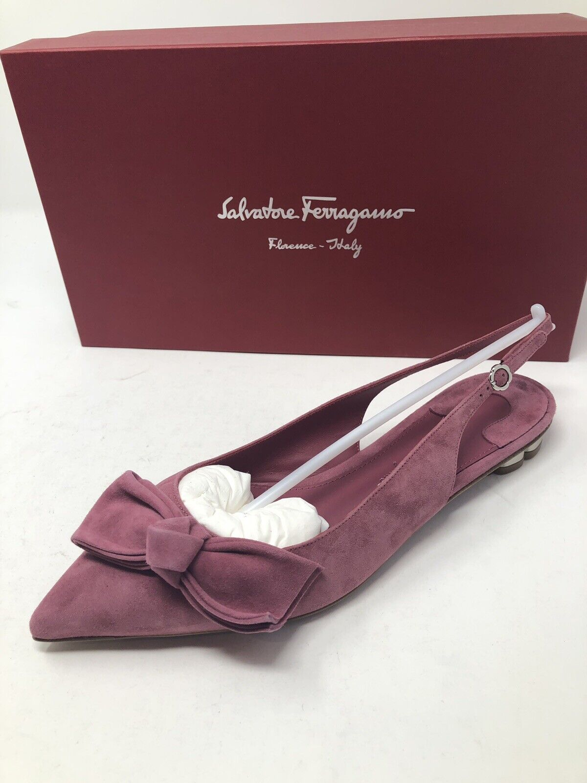 620 New Salvatore Ferragamo Womens Pink shoes Heels  Pumps Ladies Size 7 37