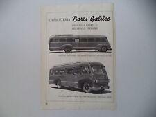 advertising Pubblicità 1949 CARROZZERIA BARBI GALILEO BUS SU ALFA 800/430 A