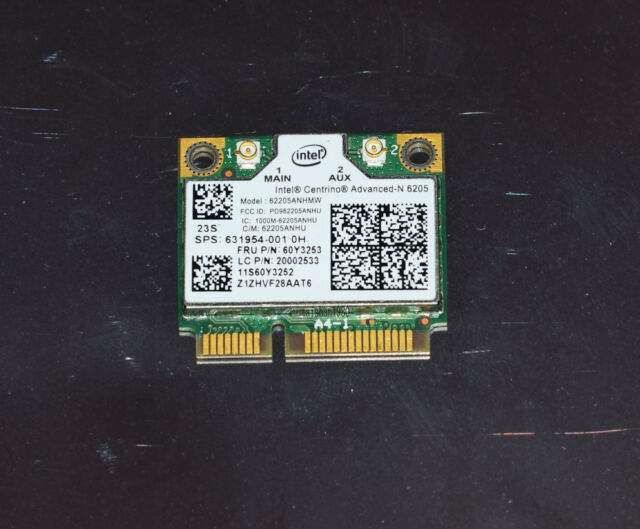 Intel 62205ANHMW Wireless-N 6205 Wifi Card for Lenovo Thinkpad X230 T430 60Y3253