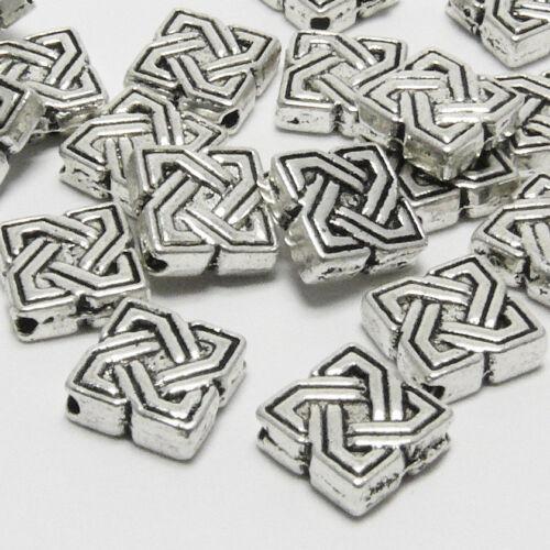 20x métal perles 7 mm Métallique Carrés Spacer Perles Altsilber couleurs entre Pièces