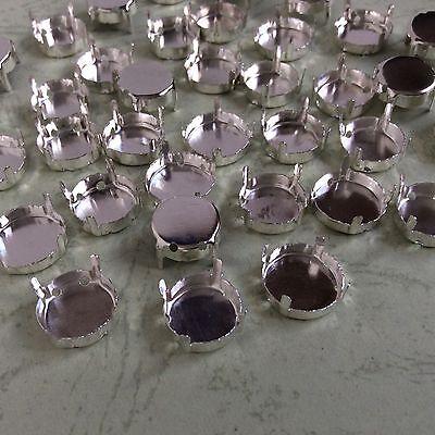 Empty Setting Claws for Rivoli Rhinestone Crystal Glass Sew On Silver