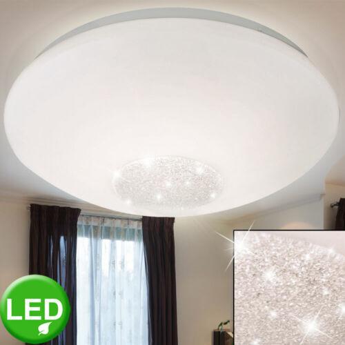 Luxus LED Decken Leuchte Wohn-Zimmer Kristall Strahler Glas Schirm Küchen Lampe
