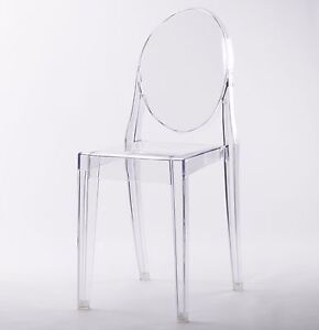 Image Is Loading CLEAR GHOST DINING CHAIR TRANSPARENT  MODERN VICTORIA STARCK