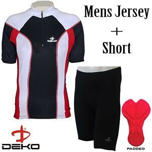 DEKO-Men-039-s-Cycling-Jersey-Bike-T-shirt-Cycle-Top-Short-Sleeve-Cycling-Shorts-Set