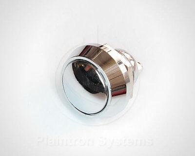 Metall-Taster, Schalter (Drucktaster) 1 Schließer Chrom 17,5/12mm rund, Klingel