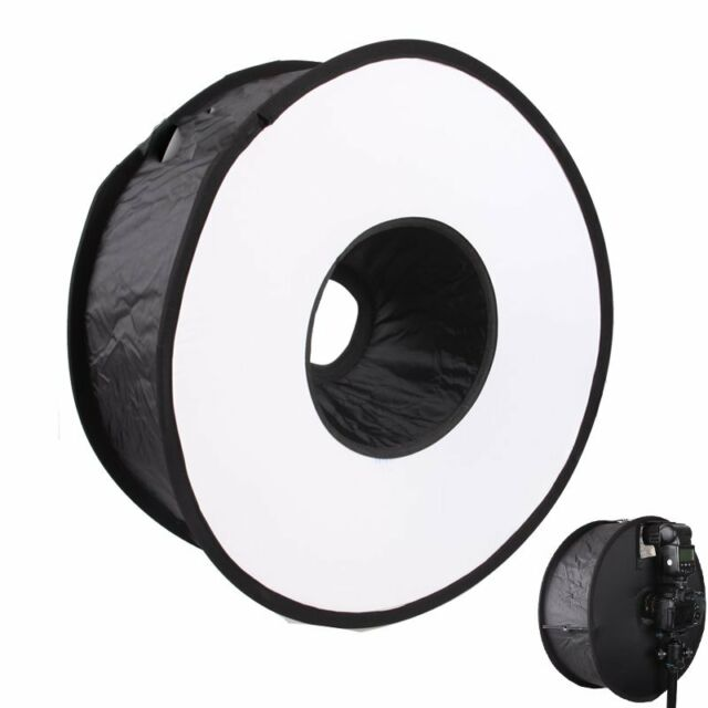 "18"" Easy-fold Ring Speedlite Flash Softbox Diffuser Reflector for Macro Shoot"