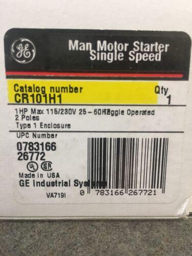 CR101H1-1HP 2pole 115//230V EACH GE Manual Motor Starter Includes Heater