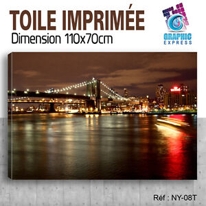 110x70cm-TOILE-IMPRIMEE-TABLEAU-MODERNE-DECORATION-MURALE-NEW-YORK-NY-08T