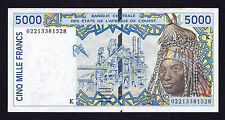 WEST AFRICA TOGO 5000 FRANCS 2002  XF