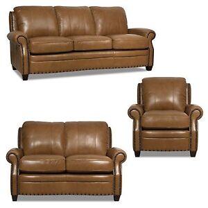 Image Is Loading New Luke Leather 3 Piece Sofa Set 034