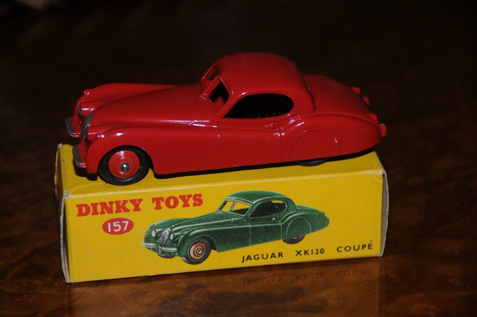 Vintage Dinky Toys   MIB   Red Jaguar XK120 Coupe   No. 157