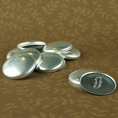 """50 WIRE BACK Cover/Covered Buttons Size 45 (1 1/8""""/28mm) Fabric SELF COVER"""